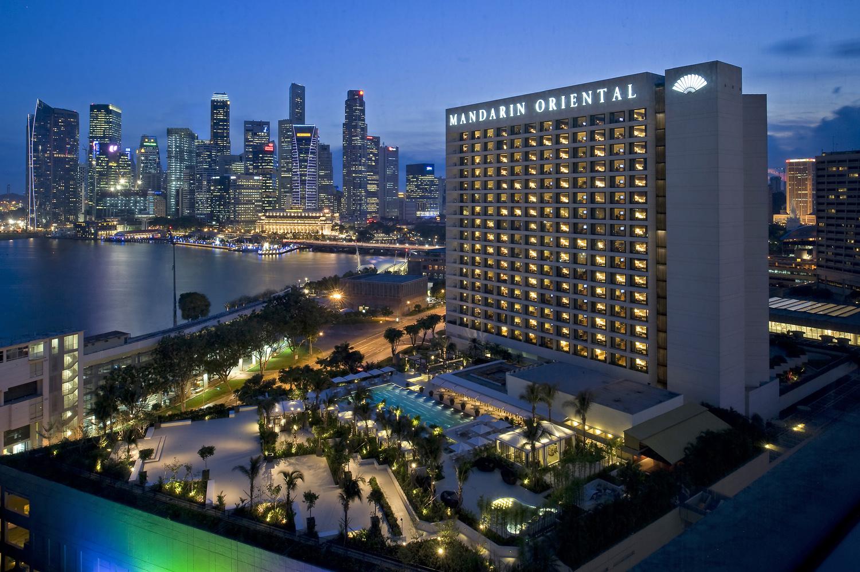 Exterior Mandarin Oriental Singapore by Michelle Chaplow