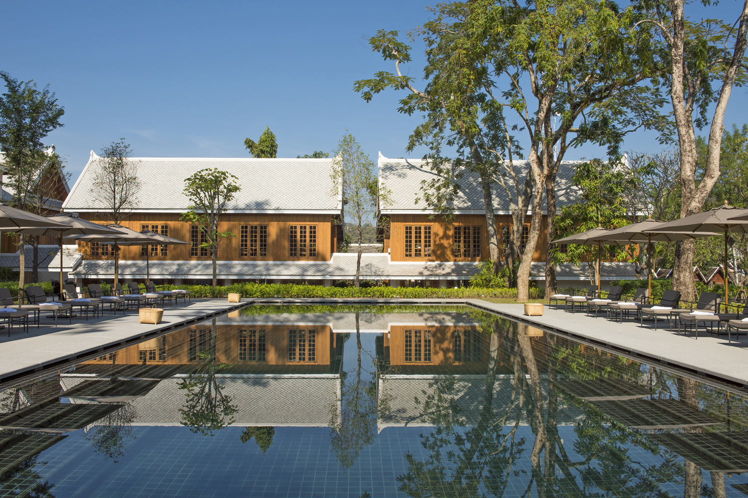 wimming Pool Hotel Azerai; Luang Prabang; Laos by Michelle Chaplow