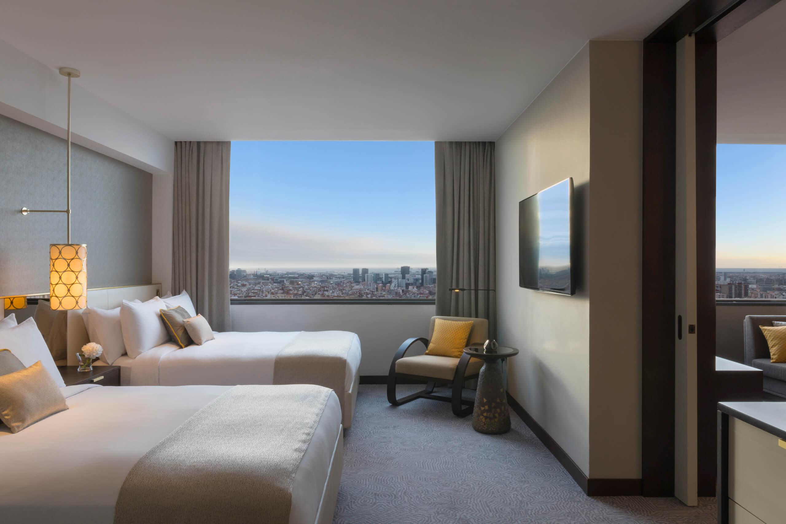 Hotel Fairmont Rey Juan Carlos I, Fairmont Barcelona Executive Suite Queen by Michelle Chaplow