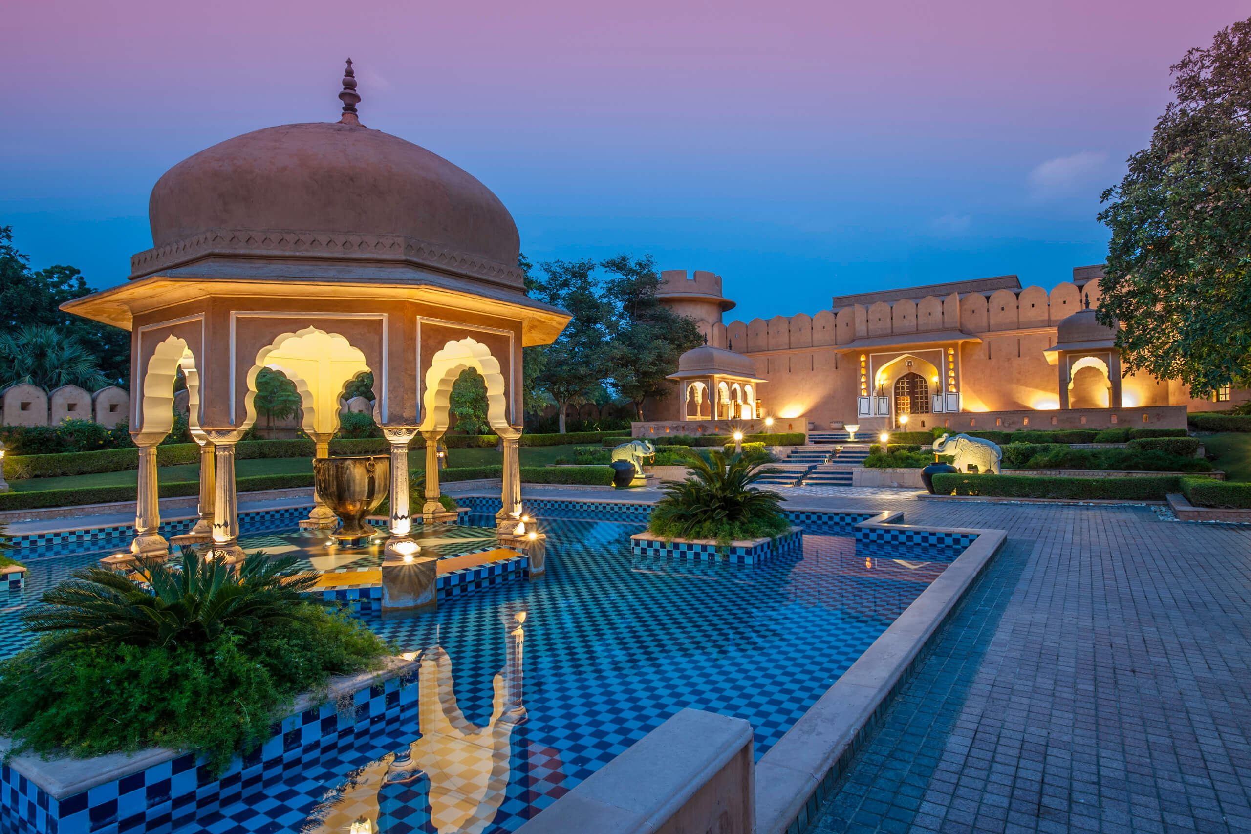 Oberoi Rajvilas Jaipur India by Michelle Chaplow