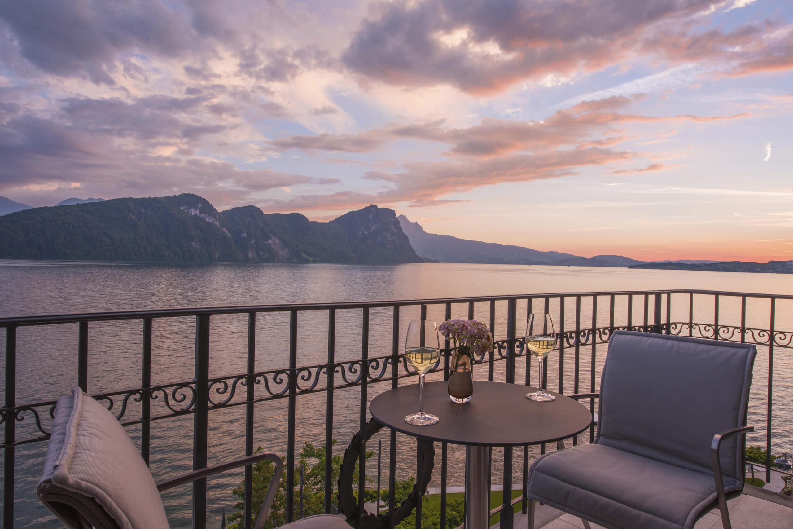 Park Hotel Vitznau, Switzerland. by Michelle Chaplow